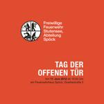 """Flyer für den """"Tag der offenen Tür"""" der Feuerwehr Spöck 2012"""