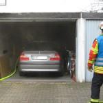 In Blankenloch brannte es in einer Garage
