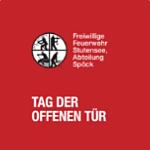 """Flyer für den """"Tag der offenen Tür"""" der Feuerwehr Spöck 2013"""